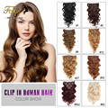 Body Wave Clip In Human Hair Extensions 7A Italian Coarse Human Hair Brazilian Virgin Hair Clip In Hair Extensions Water Wave