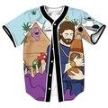 Tamanho Moda EUA Jerseys Camisas De Baseball Homens Mulheres Unissex Roupas de Impressão 3D Deus da Magra