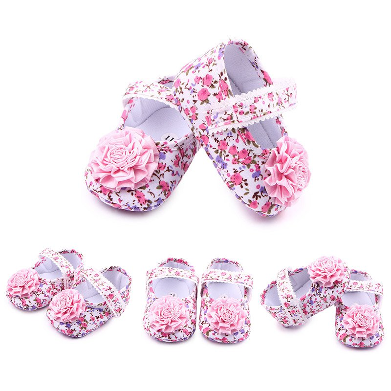 abc06aea262 Aliexpress.com   Buy New Infant Baby Shoes First Walkers Toddler Sweet Baby  Girls Kids Shoes Pink Rose Floral Party Shoes Soft Walking Shoes from  Reliable ...