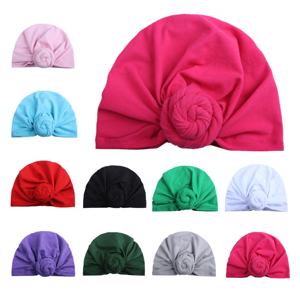 Fashion Donut Baby Hat Newborn Elastic Cotton Baby Beanie Cap Multicolor Infant Turban Hats 1 PC