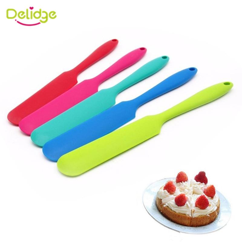 Saim 10 Pcs Silicone Professional Cake Scraper DIY Cake Baking Accessories One-piece Spatula Set-Small