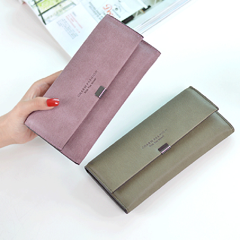 High Quality Women Long Wallets Letter Standard Hasp Money Purse Fashion Style Card Holder Synthetic Leather Clutch Bag Female 10