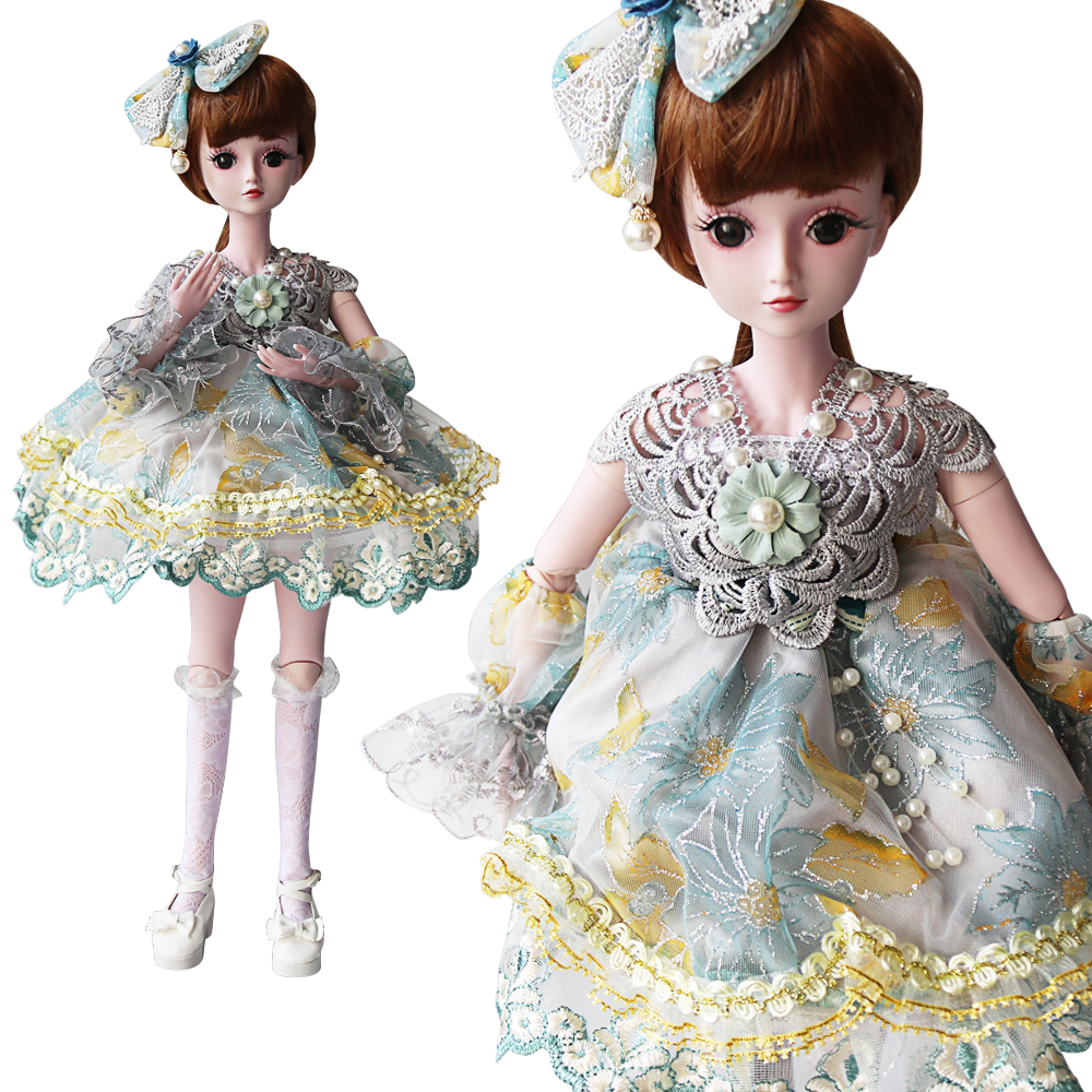 UCanaan 60CM Large Princess Doll 1/3 BJD SD Dolls 19 Ball Jointed With Full Outfits Children Play House Toys Christmas Gifts
