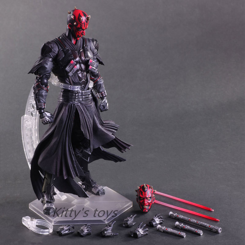PlayArts KAI Star Wars Darth Maul PVC Action Figure Collectible Model Toy 28cm Free shipping KB0276 star wars darth vader stormtrooper darth maul pvc action figure collectible model toy 15 17cm kt1717