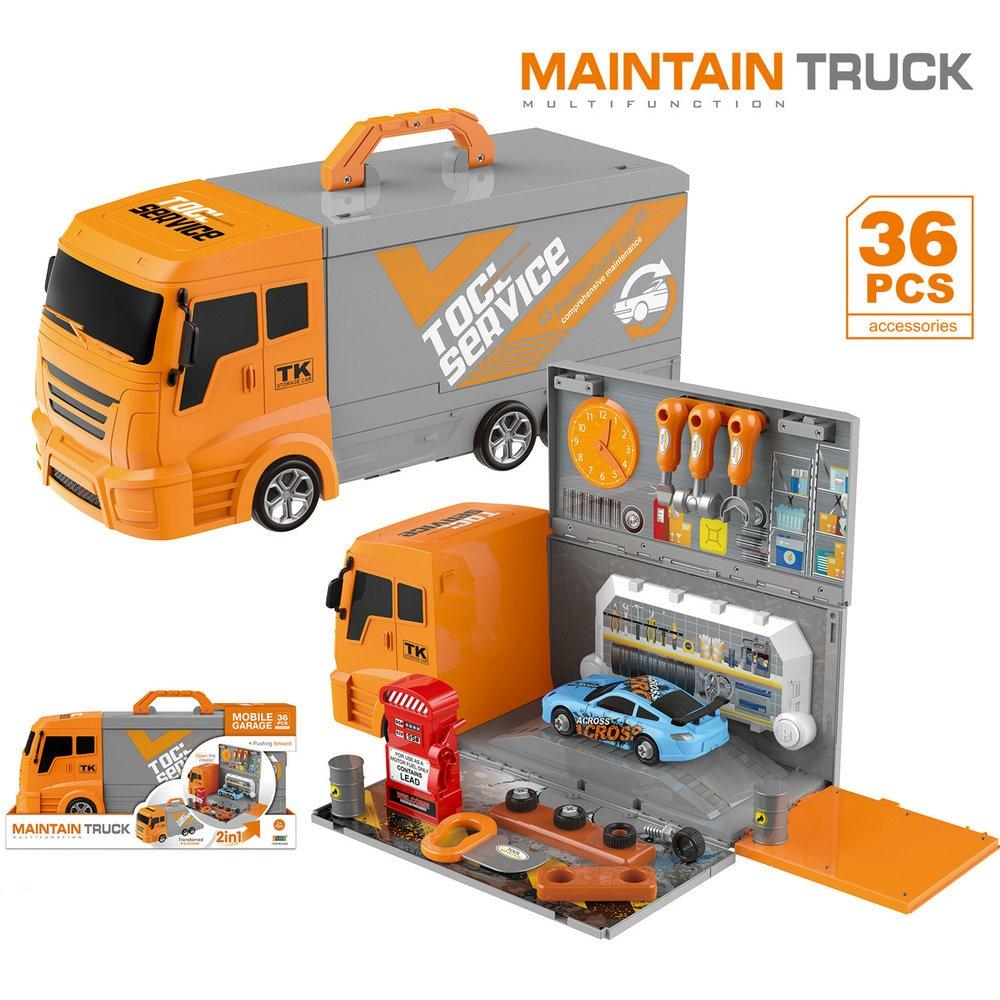 Maintenir camion 2IN1 outil jouets voiture réparation scène modèle enfants jouets pour enfants garçon semblant jouer jouets éducatifs 3-6 ans