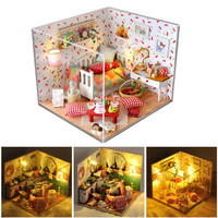 Lovely Miniature DIY House With Lighting Kit Fruit Of Assembly House Model Creative Handmade House Puzzle