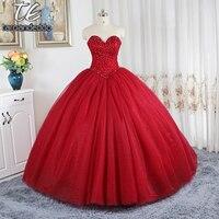Цвет красного вина бальные платья свадебное платье Пышная юбка платья для свадебного развертки поезд кристаллами Свадебные платья novias