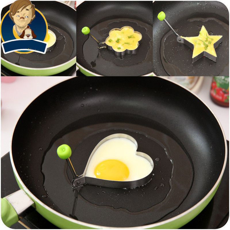 Stainless Steel Omelette DIY font b Food b font Fried Egg Mold Model Love Star Eggs