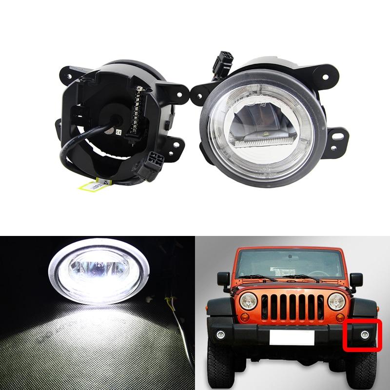 Voiture-style Led antibrouillard assemblage xénon blanc DRL lumières du jour anneau pour Chrysler PT Cruiser Magnum voyage 300 pour Jeep Wrangler