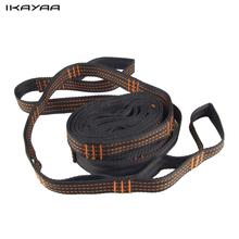 iKayaa Double Hammock Tree Straps 2 loops Hammock Rope Outdoor Camping Tool(China)