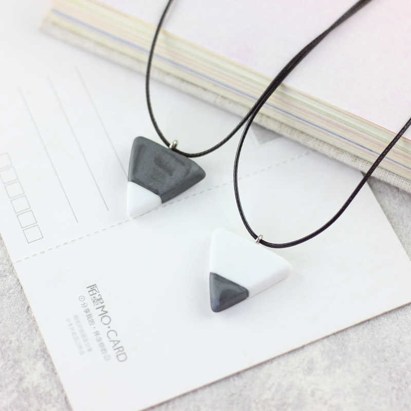 minimalist geometric creative triangle necklace female south Korean contracted joker sweater chain necklace #1134