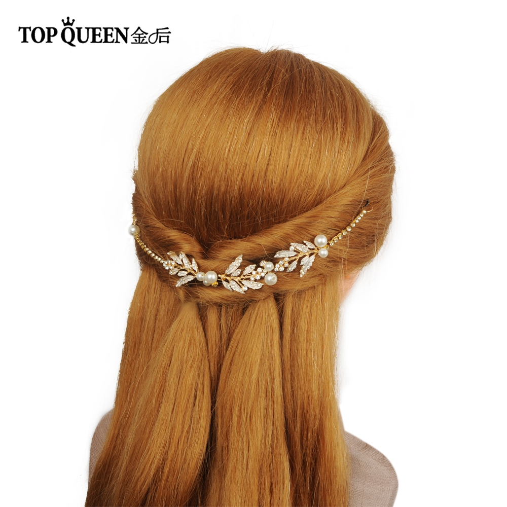 TOPQUEEN HP87 Wedding Tiara Bridal Headband Wedding Headwear Diamond Wedding Hairband Wedding Hair Accessories Bridal Headwear