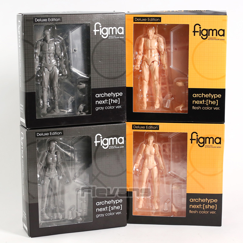 Figma Archetype Next He / She Flesh Gray Color Ver. Deluxe Edition PVC Action Figure Collectible Model ToyFigma Archetype Next He / She Flesh Gray Color Ver. Deluxe Edition PVC Action Figure Collectible Model Toy