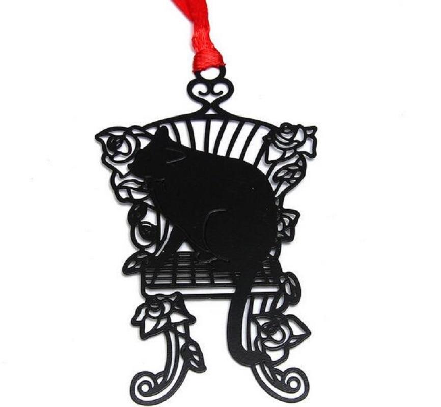25 Stks Rvs Zwart Stoel Kat Bookmark Boek Kaart Voor Wedding Baby Shower Party Verjaardag Gunst Gift Souvenirs Door Wetenschappelijk Proces