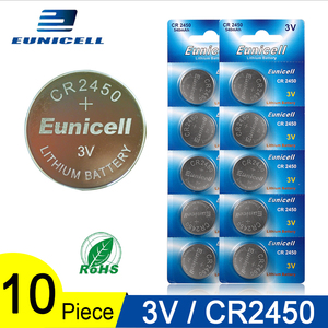 10PCS 350mAh Button Battery 3V CR2450 CR 2450 ECR2450 KCR2450 5029LC LM2450 DL2450 BR2450 Alkaline Button Cell Coin Batteries(China)