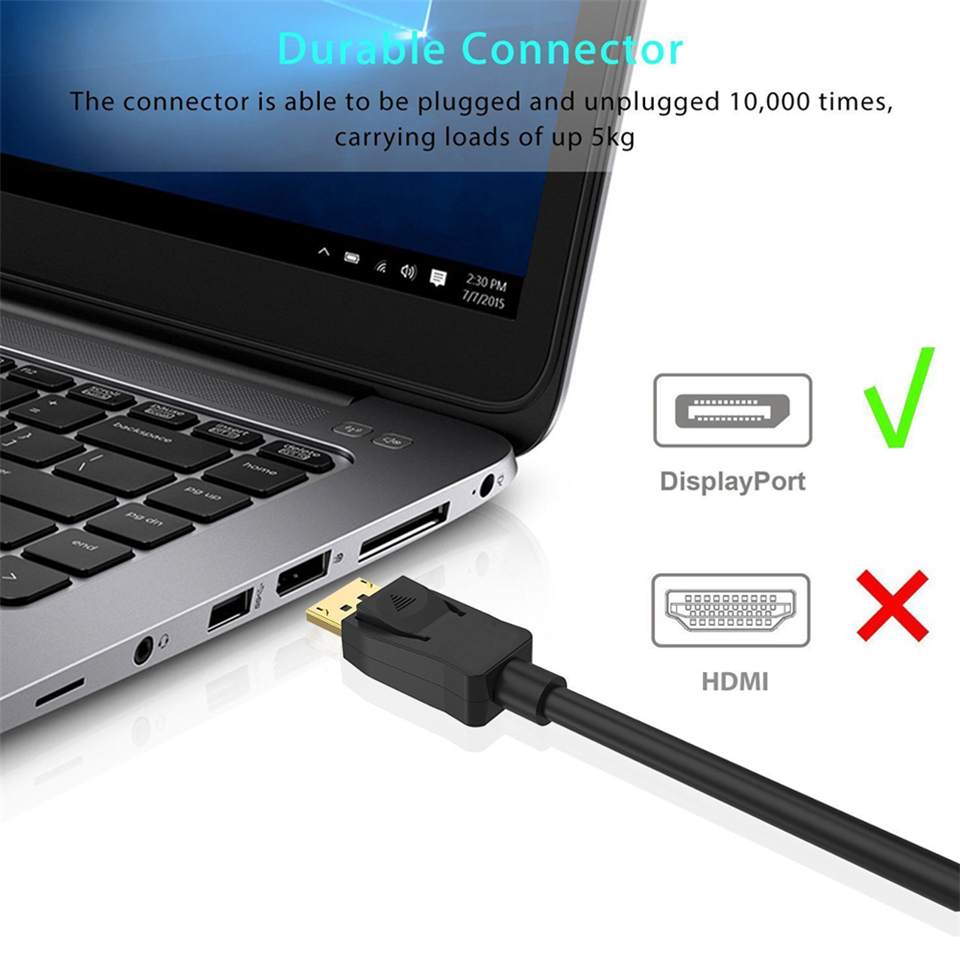 2019 Best Displayport 1 4 Cable Video Audio Displayport 1 4V DP 1 4 To DP 1 4 Cable 4K 144Hz 8K DP 1 4 Cable For HDTV Projector