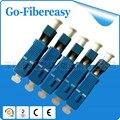 Ventas al por mayor 36 unids/lote híbrido de fibra óptica LC para mujer a Male LC-SC monomodo Simplex adaptador óptico
