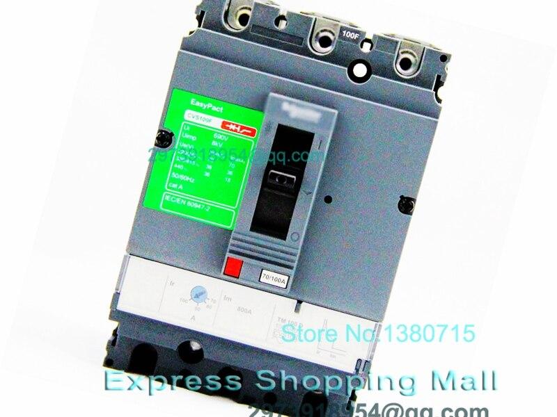 NEW CVS100F 3P 100A LV510307 EasyPact Moulded Case circuit break-er