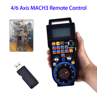 CNC 4Axis Wireless Mach3 MPG Pendant Handwheel Controller for CNC Machine lathe