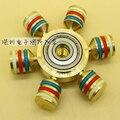 Nueva Brass Tri-Spinner Fidgets Juguete luminoso EDC Sensorial Fidget Spinner Para El Autismo y Niños CON TDAH/Adulto Divertido Anti Estrés Juguetes