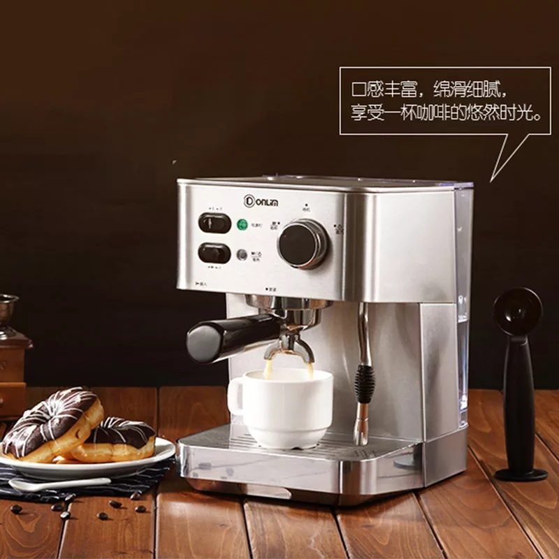 Italian Coffee Semi-automatic Coffee Machine Pump Type Espresso Household and Commercial One Machine Steam Foam System