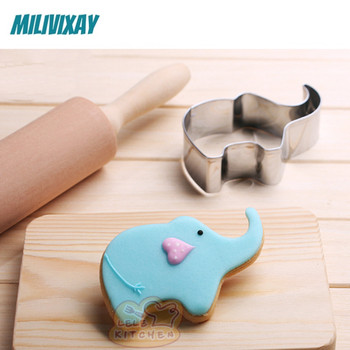 Elephant Cookie Cutter Metal Mold Baking Tools Cookwares for DIY Cute Desserts Pastry Cake Fondant Fruit Cupcake Baby Shower african elephant