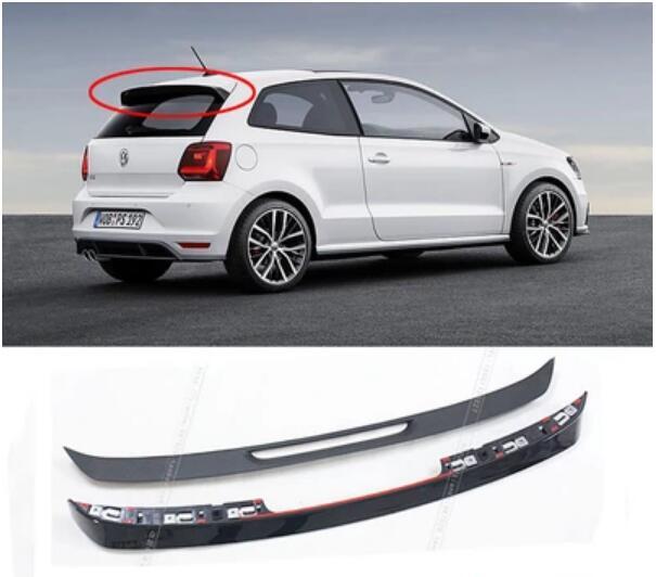 1PCS ABS BLACK CAR REAR WING TRUNK SPOILER FOR Volkswagen VW POLO GTI 2011 2012 2013 2014 2015 2016 2017 2018 OEM SPOILER