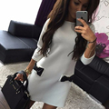 office dress Autumn&spring  Women Dress Elegant Half Sleeve Office Work Wear Women Winter Bodycon Casual Outfits 3Colors