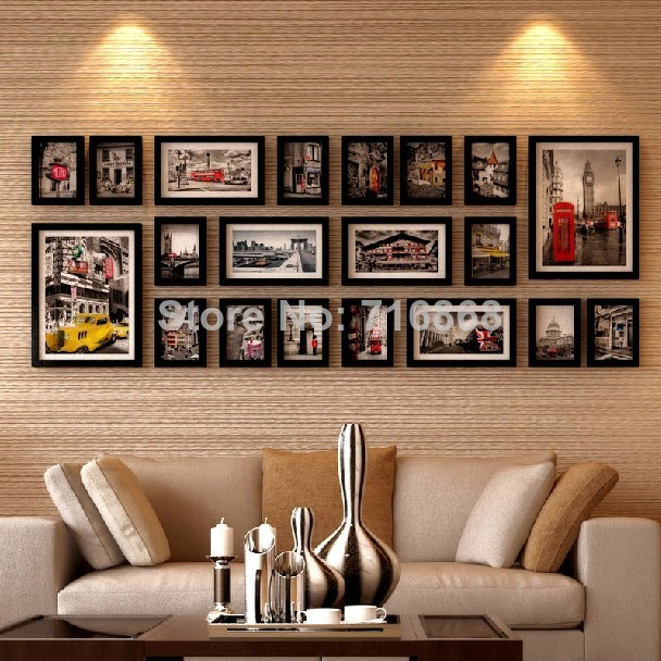aliexpresscom buy black 2015 good wood wall frames per picture frame ideas 20 pcsset used for framed family baby love memory home photo frame set from