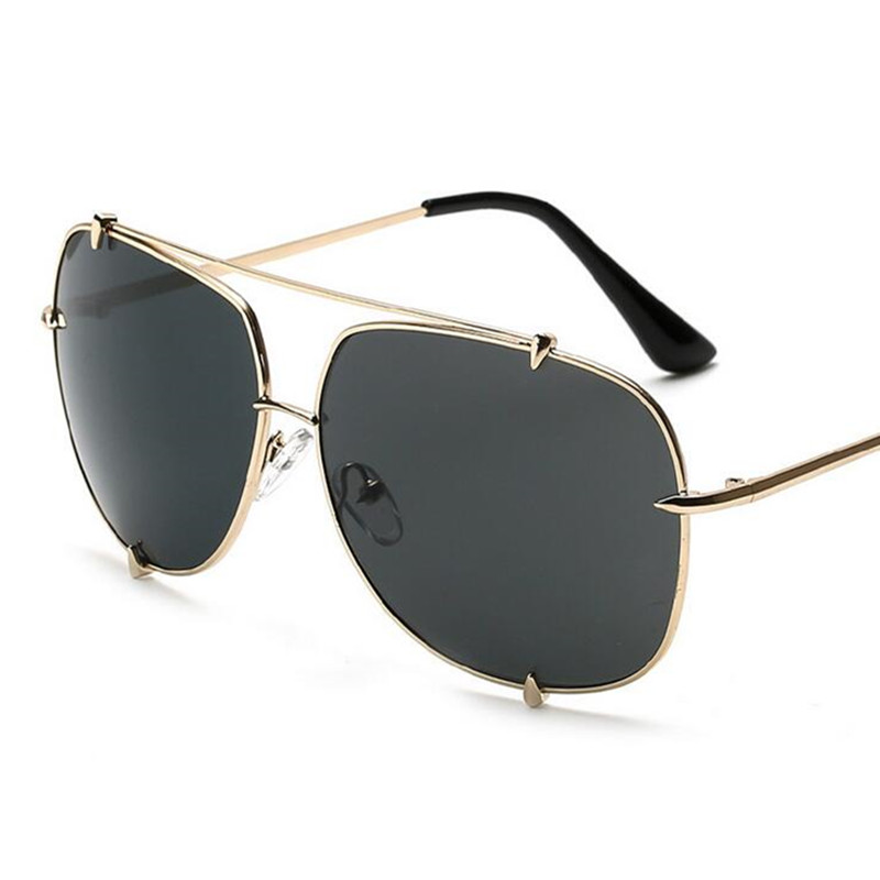 38121fa125 Emosnia Fashion Oversized Aviation Sunglasses Women Men Luxury Rimless  Rivets Brand Designer Big Mirror Pilot Sun Glasses Oculos-in Sunglasses  from Apparel ...