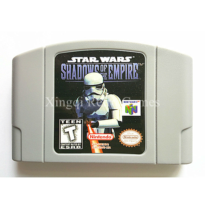 Nintendo N64 Game Star Wars Shadows of the Empire Video Game Cartridge Console Card English Language US Version