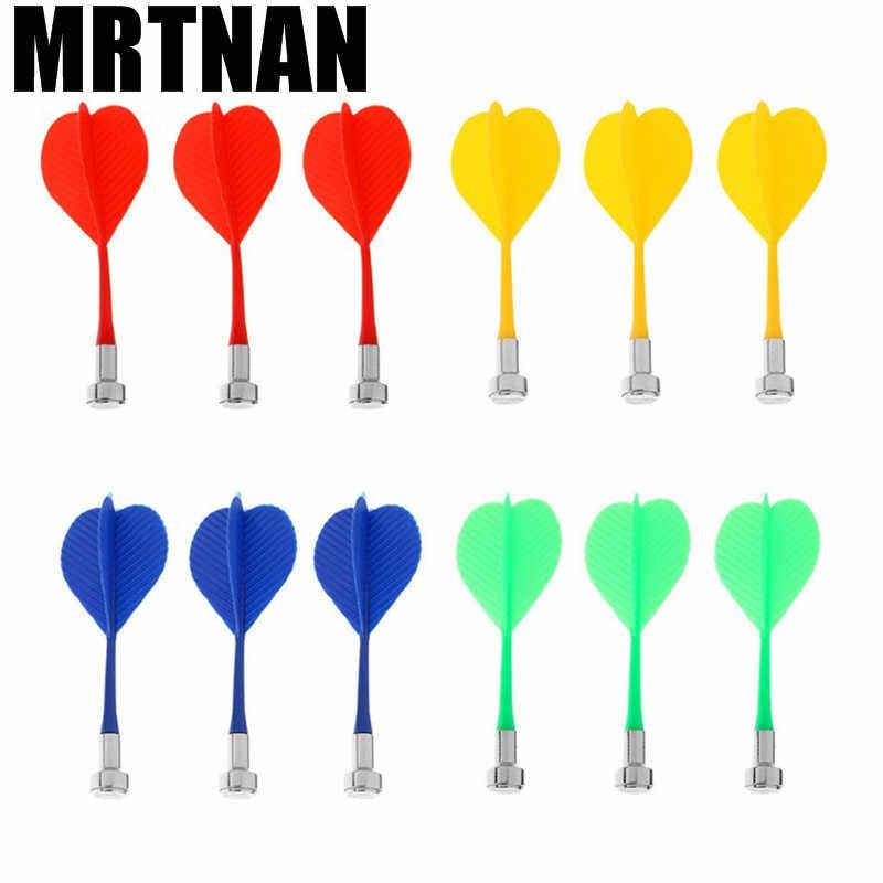 3, 6 штук в партии, Четырехцветная пластик крыло в форме шприц для игры в дартс прикольные дротики крыло магнитный Дартс дисковый магнит для игры в Дартс