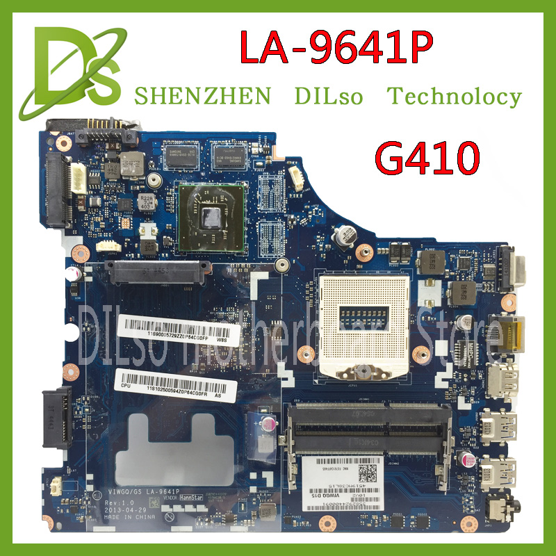 KEFU LA-9641P For Lenovo G410 Laptop motherboard HM86 PGA947 LA-9641P motherboard Test цена