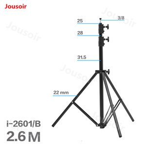 Falconeyes 2.6 m 3 section photographic light stand flash photographic equipment photographic Light stand i 2601/B CD50 T06|Light Stand|   -