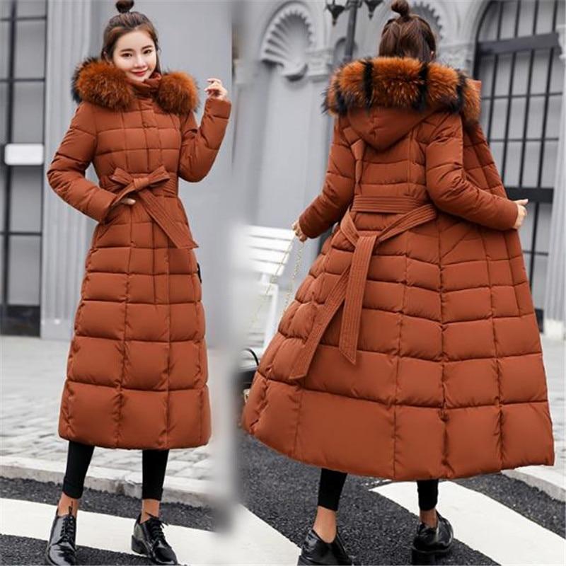 Taille Ceinture 2 big 1 Manteau Femme Chaud Plus Vers 2018 Fur Porter Ouatée Neige D'hiver Avec À big 12 11 Veste Long 10 Collar 9 8 Capuchon Le 7 6 5 Nouvelle Épaissir Big big Parka Bas big La 4 big Rembourré Coton 3 PqpgCwCf