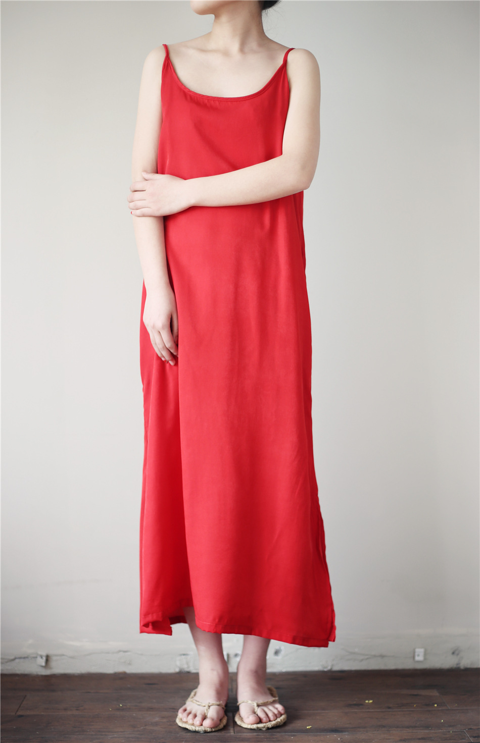 Women Slips 100 Real Silk Full Slips Healthy Under Dress -8662