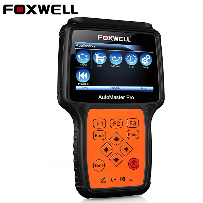 FOXWELL NT624 PRO Full System OBD2 Auto Diagnostic Tool Car ABS Airbag SRS SAS EPB Crash Data Oil Reset OBD 2 Automotive Scanner obdstar vag pro car key programmer epb airbag srs odometer mileage change obd 2 scan tool for vw audi skoda seat volkswagen