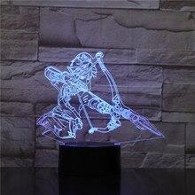 Game The Legend of Zelda Desk Lamp Bedside 3D Illusion Action Figure Room Decorative Lamp Child Kids Baby Gift Night Light LED недорого