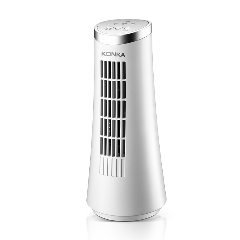 AC Electric Tower Air Cooling Fan Desk Floor Shaking Low Noise Dormitory Office Fan Home Tabletop Leafless Mini Negative Ion Fan penguin low noise portable electric fan
