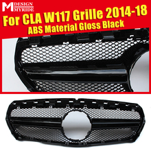 CLA Sport W117 Grills Grill Without Sign Fit For MercedesMB CLA-Class CLA180 GLA200 250 ABS Black 1:1 Replacement Grille 2014-18