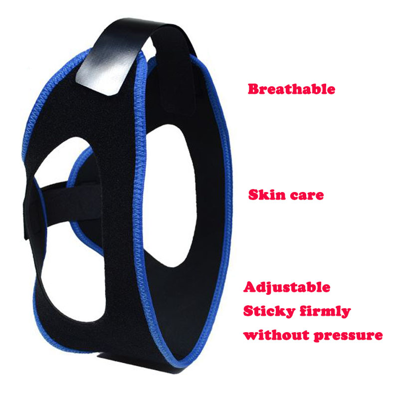 Neoprene Snoring Mask Chin Strap Triangle Fixation Anti Motion Aid Sleep Apnea Non Snore Stopper Snoring Relief Protection Belt in Sleep Snoring from Beauty Health