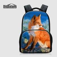 Dispalang Cute Fox Printed School Backpack For College Women Casual Daily Daypacks Canvas Bookbags Animal Laptop Rucksack Rugtas