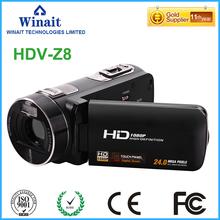 Freeshipping 24MP Shooting Digital Video Camera HDV-Z8 3 0 1080P DV Video Recorder Pro HDV Camcorder With Face amp Smile Detection tanie tanio Do użytku domowego 1080P (Full-HD) Kamera HD Cmos 1 2 5 cala Elektroniczna stabilizacja obrazu 301g-400g 24000000 DYSK twardy pamięć Flash