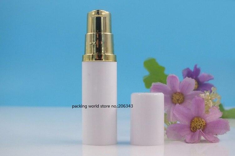 5 ملليلتر الأبيض زجاجة بلاستيكية من دون هواء مع الفضة/الذهب مضخة الأبيض غطاء ل غسول/مستحلب/المصل/عينة/ العين جوهر العناية بالبشرة التعبئة-في زجاجات التعبئة من الجمال والصحة على  مجموعة 3