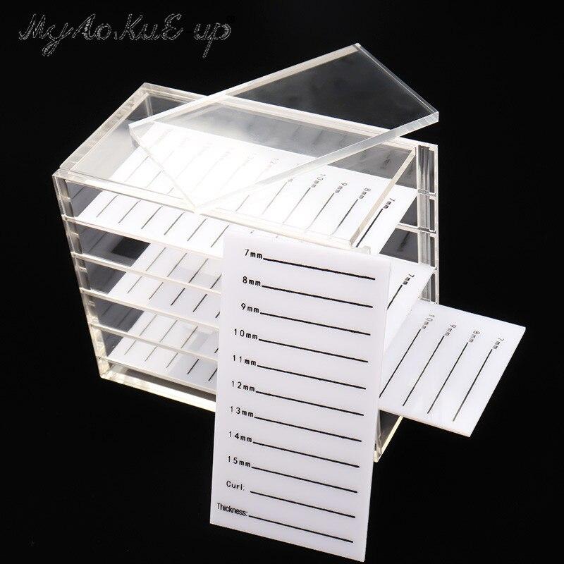Caja de almacenamiento falsas pestañas 5 capas paleta acrílico pestañas para pestañas individuales volumen Display Stand herramientas