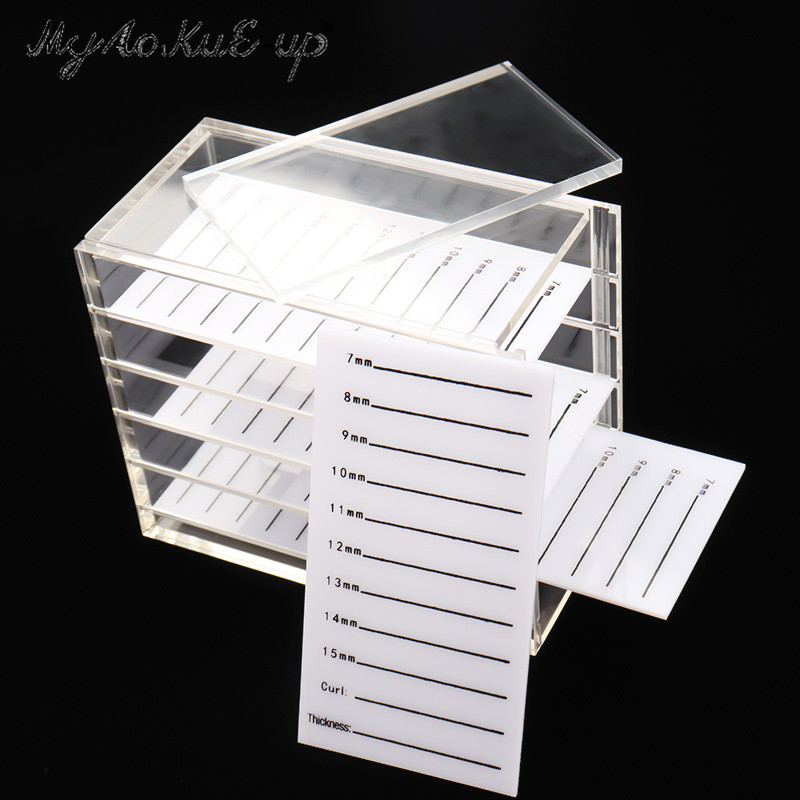 False Eyelashes Storage Box 5 Layers Acrylic Pallet Lash Holder For Eyelash Extension Individual lash Volume Display Stand Tools acrylic eyelash extension tool lash holder glue holder make up eyelash title box
