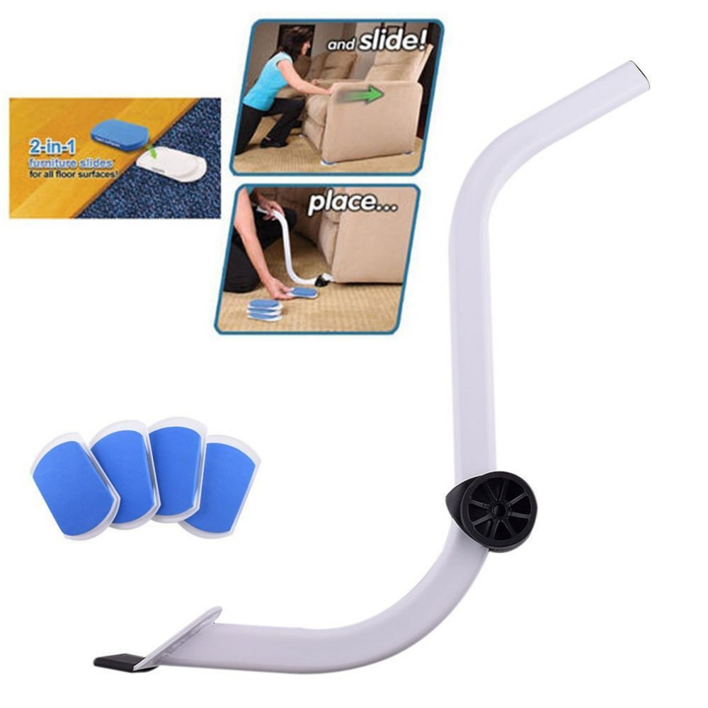 Furniture Moving System with Lifter Tool & 4 Slides Household Handy Move Tools Mover Lifter Pads Labor saving Accessories
