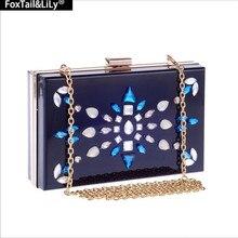 2016 mode Strass Hochzeit Tasche Frauen Clutch Wallets mit Kette Elegante Schultertasche Partei und Abendtaschen Femele Box Klappe