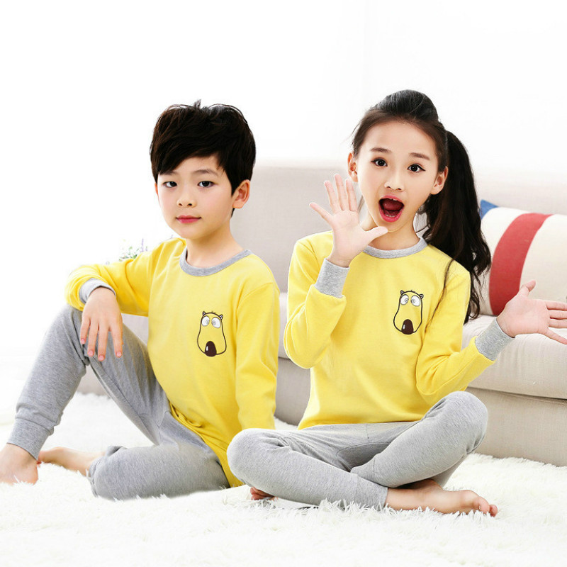 купить Children Clothing Set Pajamas Sets Kids Girls T-shirt Pants Kit Suit Newborn Baby Boys Clothes Set Pajamas For Boy Suits Outfits по цене 627.05 рублей
