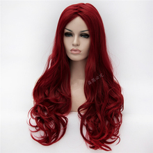 Poison Ivy 70cm Wine Red Long Wavy Cosplay Wig Heat Resistant Cosplay Costume Wig